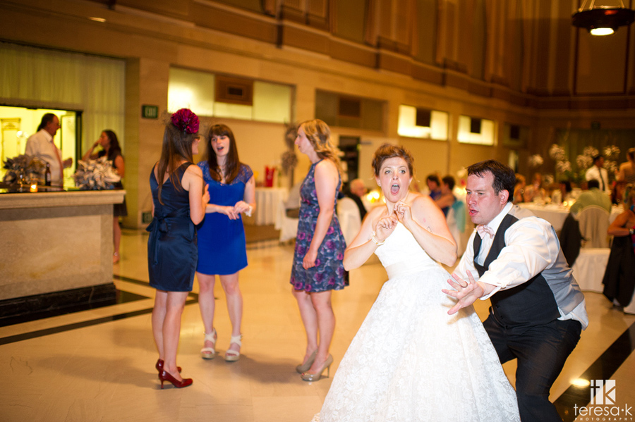 crazy reception dancing at the Sacramento grand ballroom
