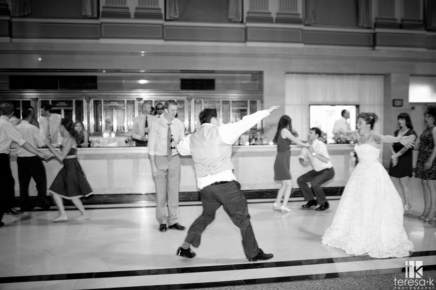 groom does the slide into the bride