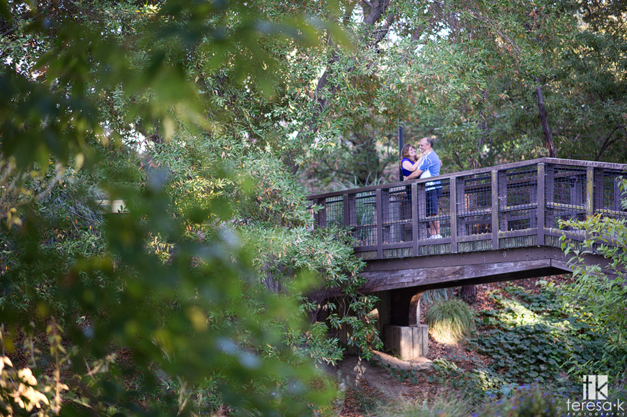 couple on a bridge in Davis