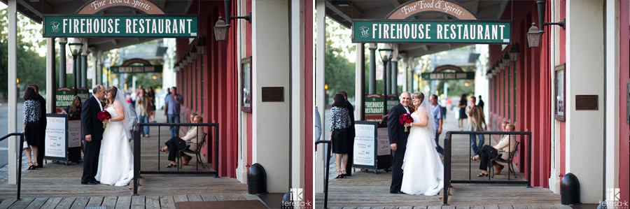 Wedding Day Portraits In Old Town Sacramento