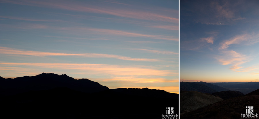 dantes peak at sunset