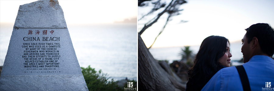engagement session at China Beach in San Francisco 016