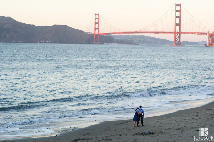 engagement session at China Beach in San Francisco 020