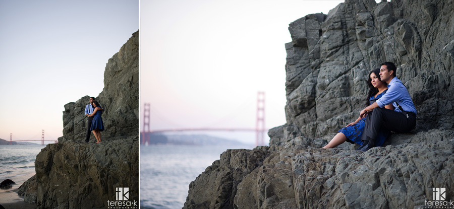 engagement session at China Beach in San Francisco 023