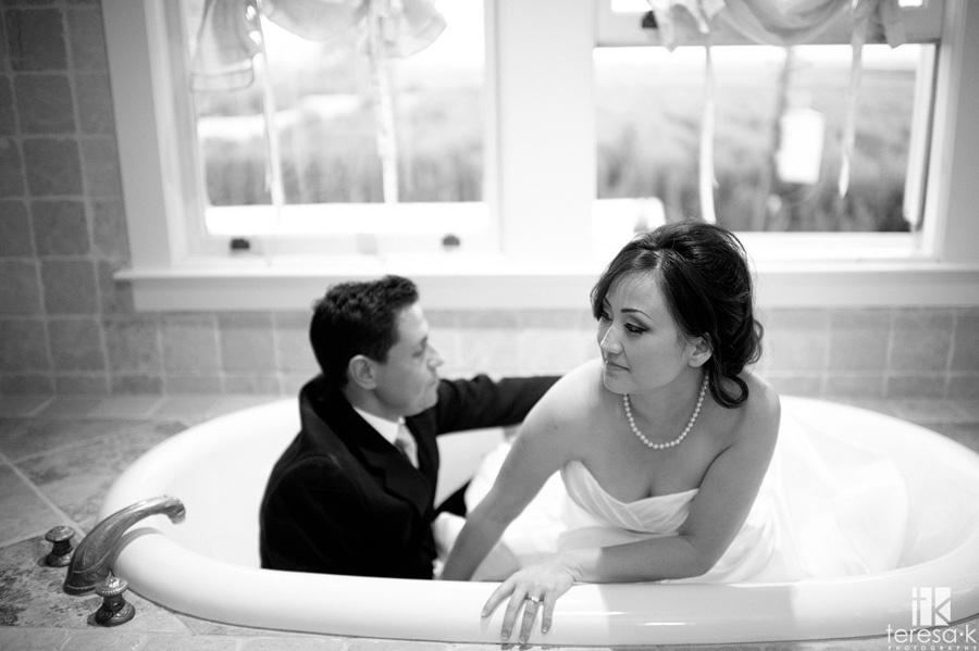 grand island wedding images in the bathroom