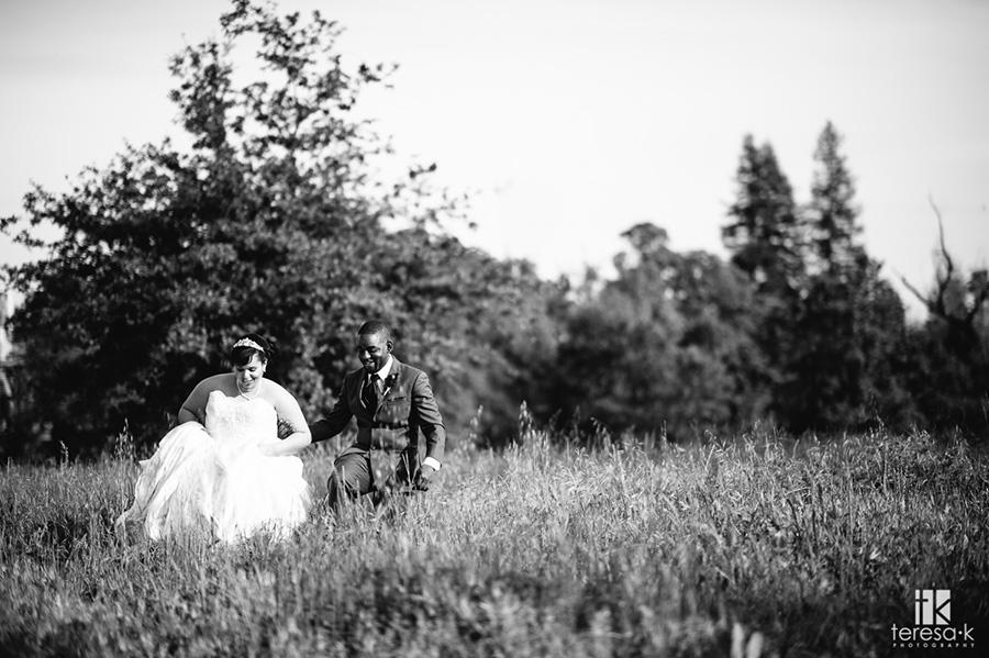 bride and groom portrait at arden hills