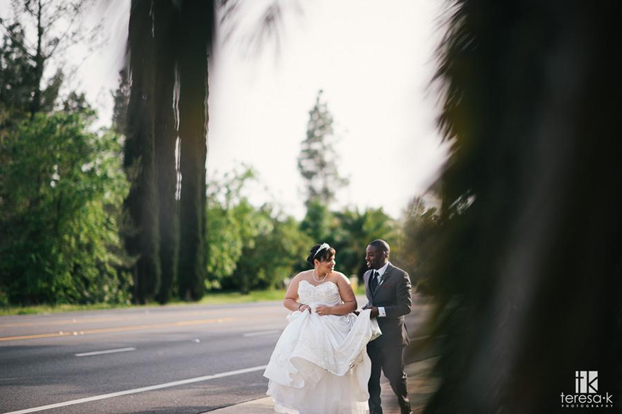 bride and groom at arden hills sacramento