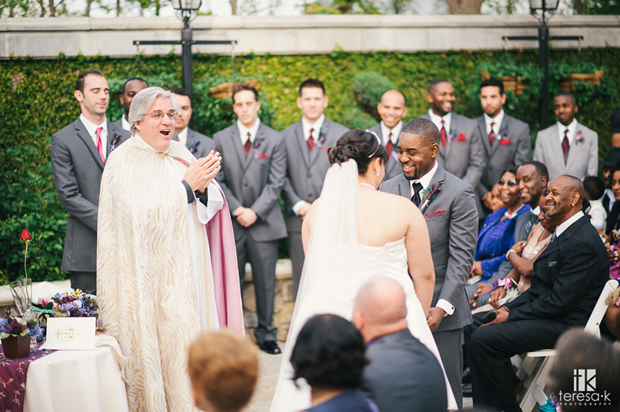 ceremony in the villa at arden hills