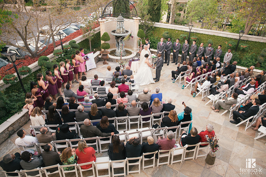 view of ceremony set-up for villa at arden hills