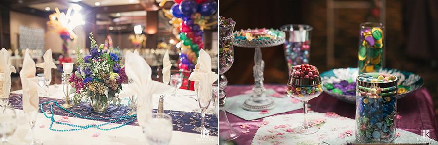 mardi gras themed wedding at arden hills