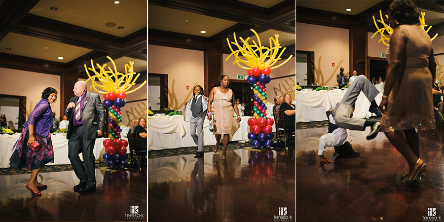 crazy reception entrance dancing at arden hills sacramento