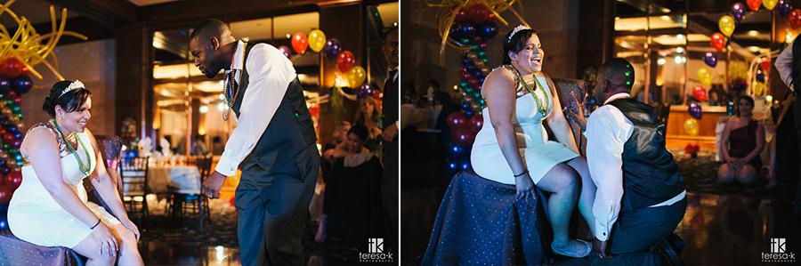 marti gras wedding at Arden hills Sacramento