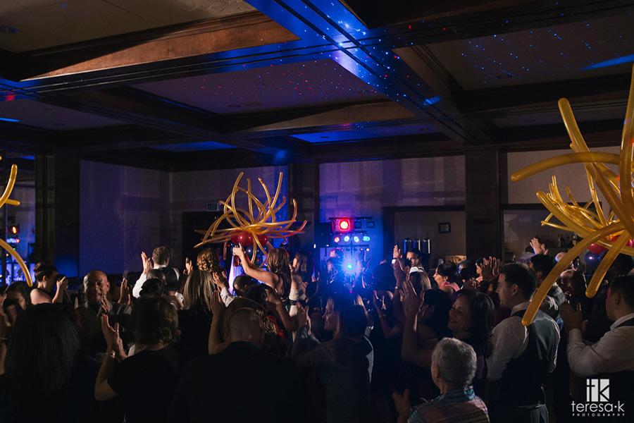 packed dance floor at wedding