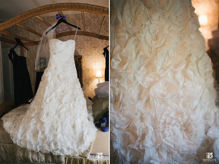 wedding dress at the heirloom inn