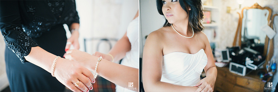 creative bridal portrait in ione at the heirloom inn
