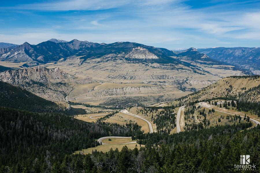 chief Joseph scenic highway in Wyoming
