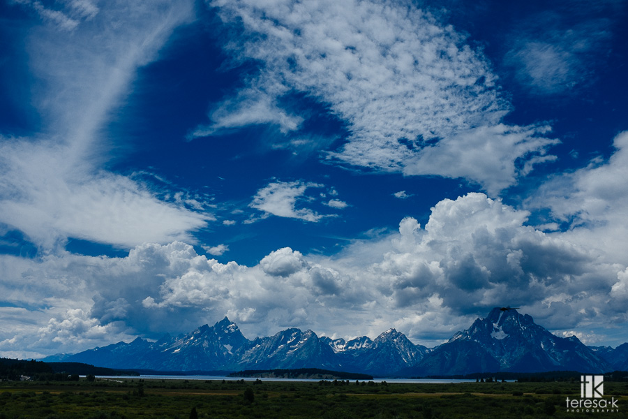 the grand Tetons in Wyoming
