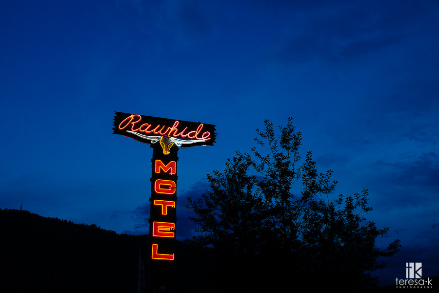 neon sign in Jackson Wyoming