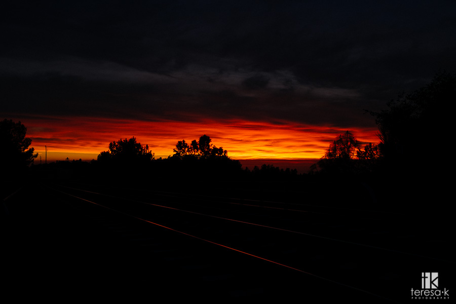 sunset in northern California
