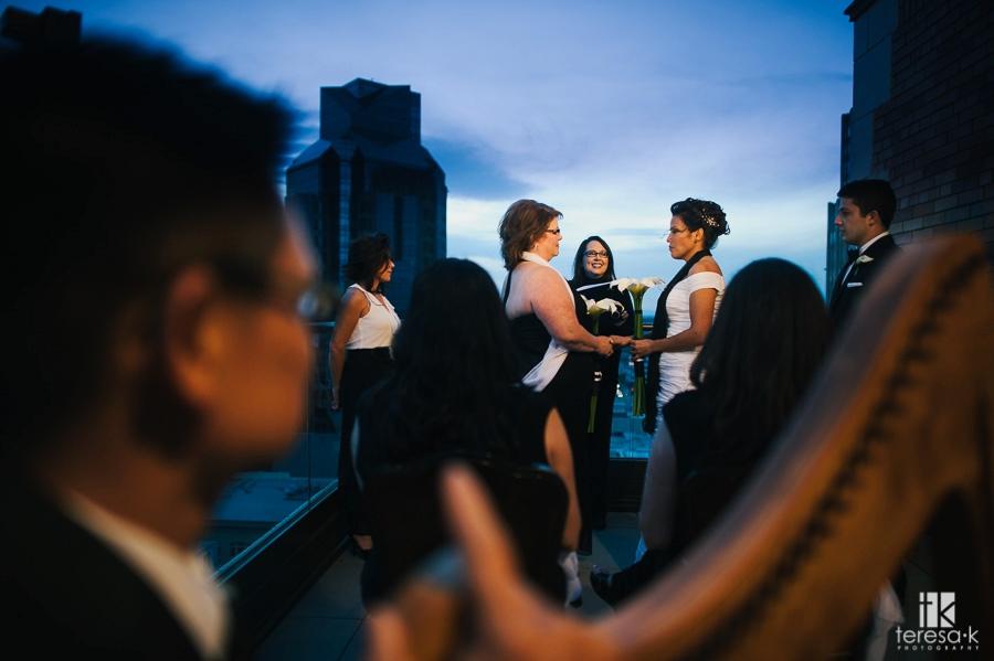 Sacramento Citizen Hotel Rooftop Elopement at Sunset 35